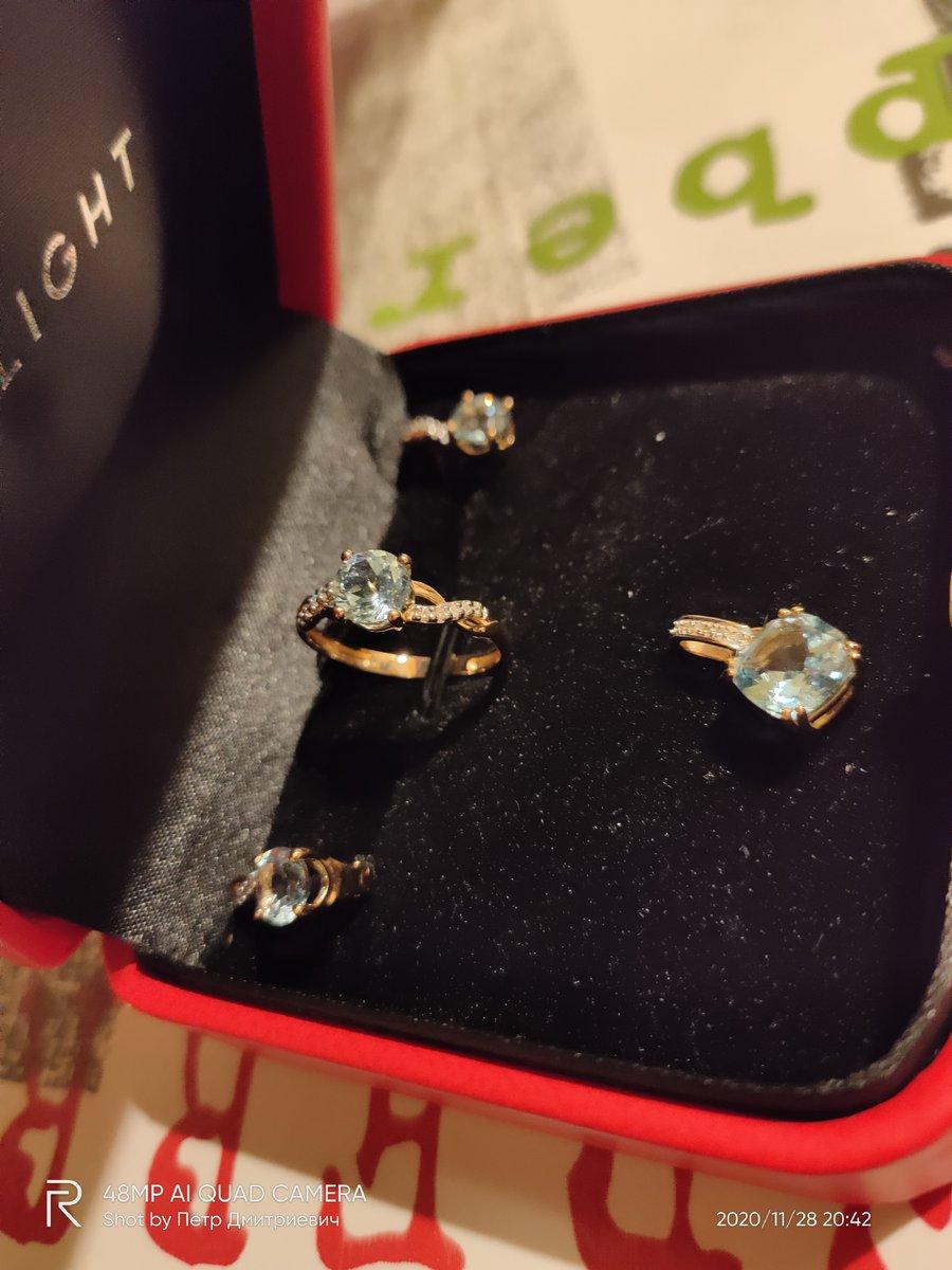 Серьги-прозрачные топазы с бриллиантами.