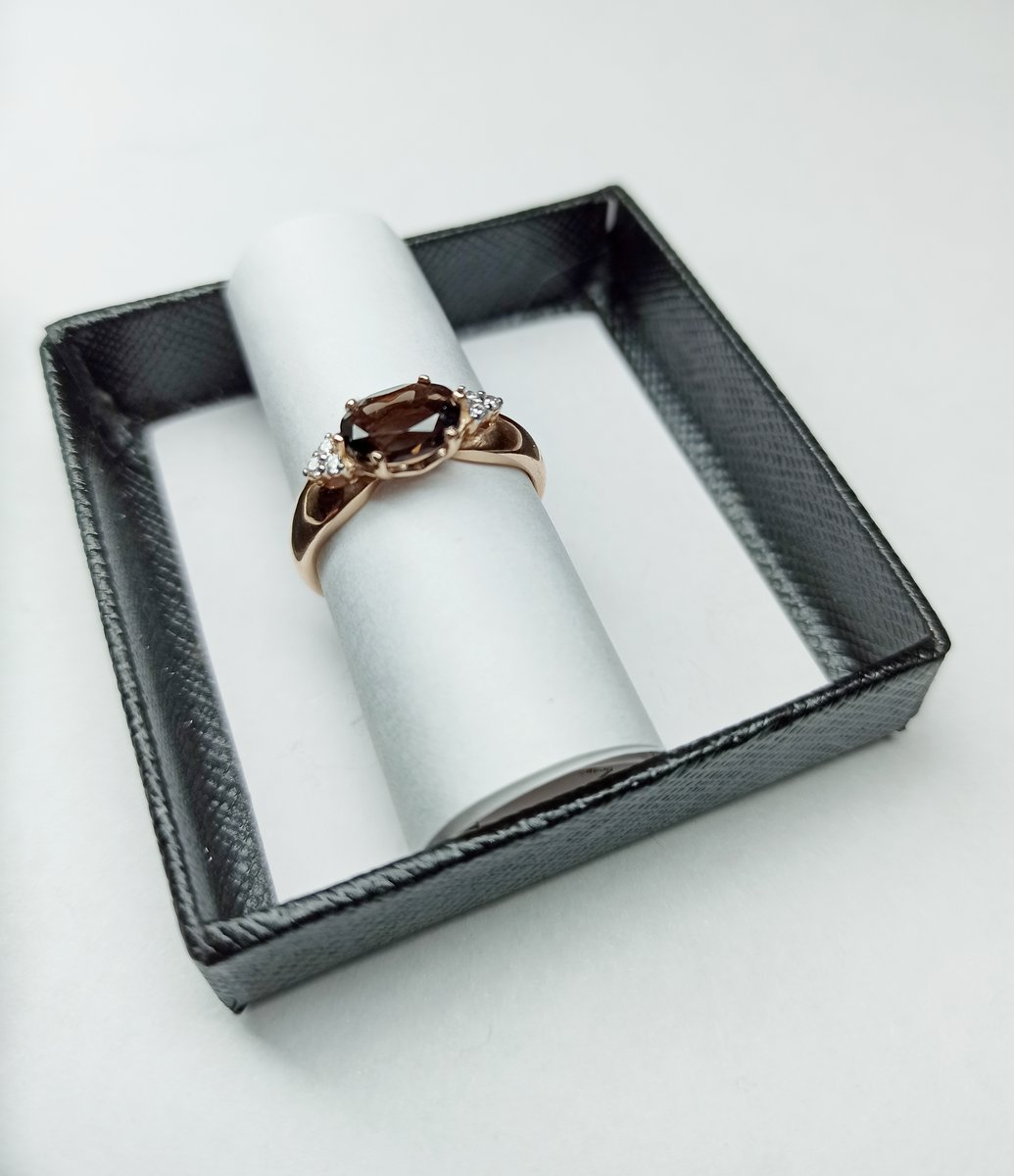 Кольцо серебряное позолоченное, размер 17