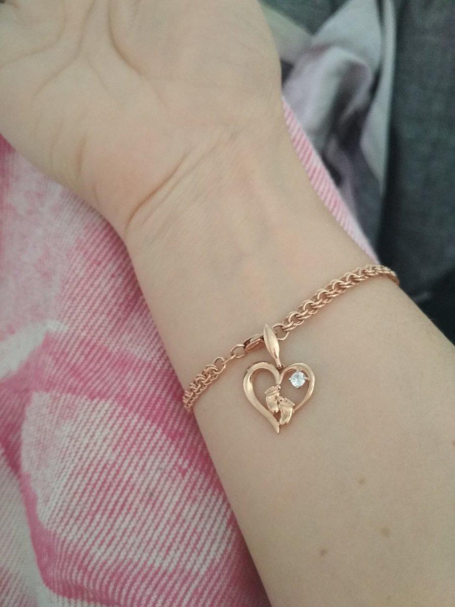 Кулон миленький лапки с камнем в сердечке