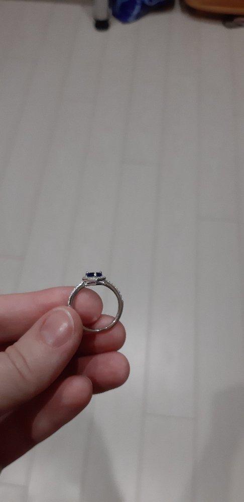 Кольцо с фанатом в виде сердца