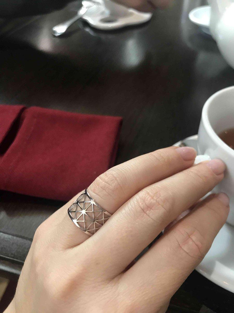 Ажурное серебряное кольцо