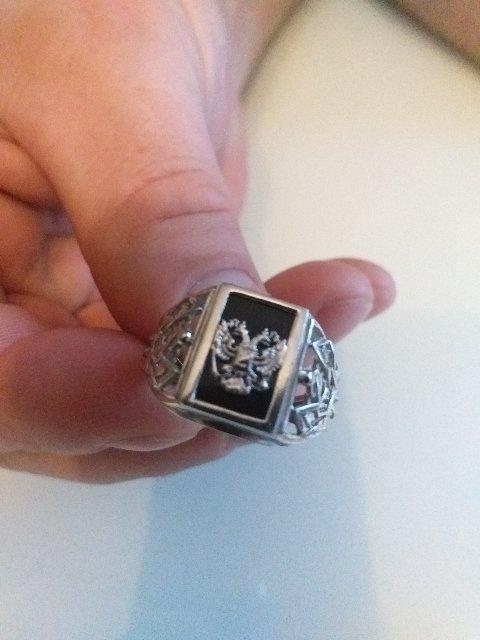 Серебряный перстень с гербом