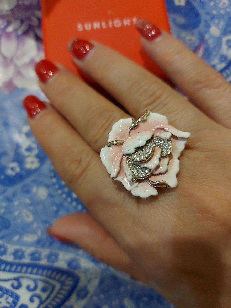 Кольцо пион-роза.