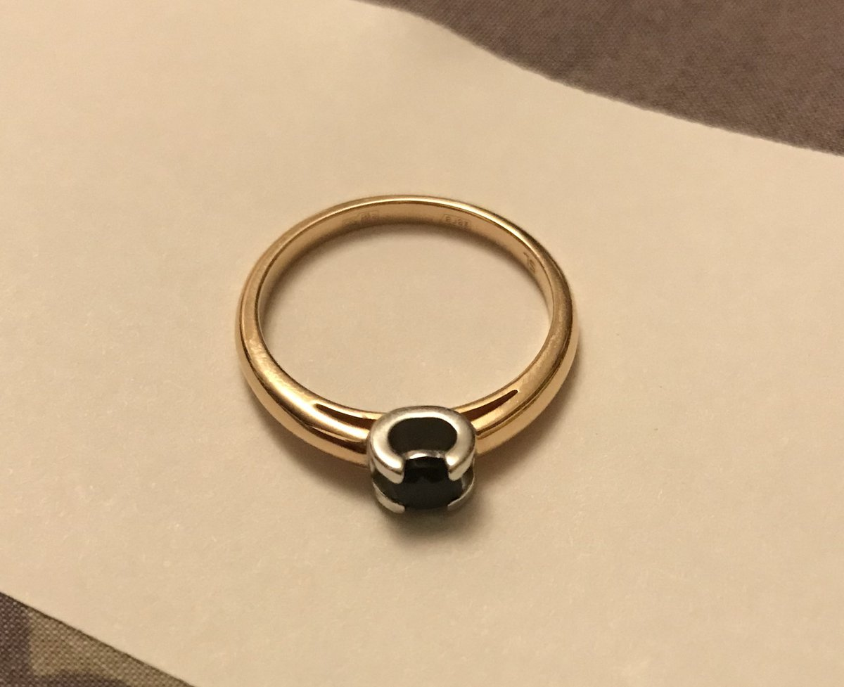 Кольцо с природным сапфиром !