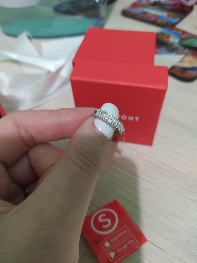 Кольцо из белого золота с феанитами