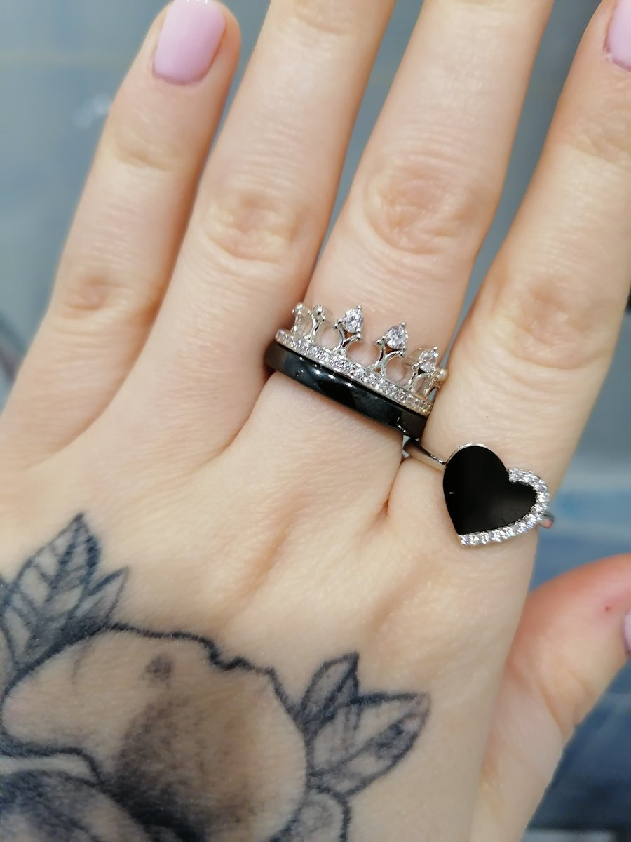 Серебряное кольцо с керамикой и феанитом