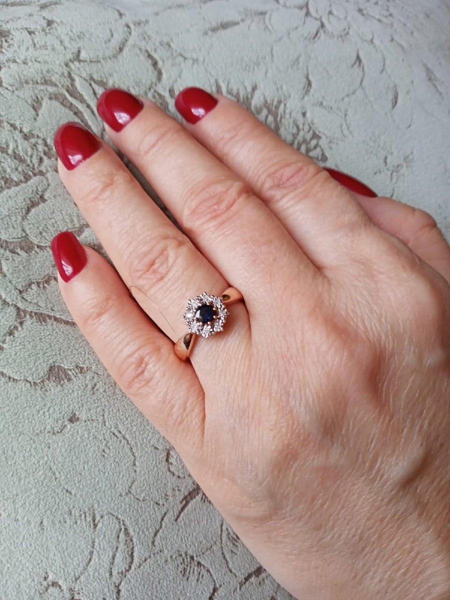 Давно мечтала кольцо с сапфиром это мой любимый камень. сбылась моя мечта!!