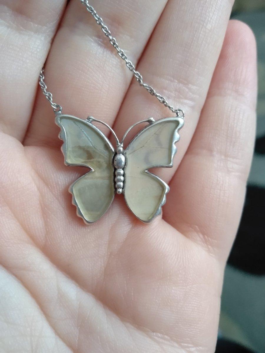 Кулон с бабочкой и цепочкой