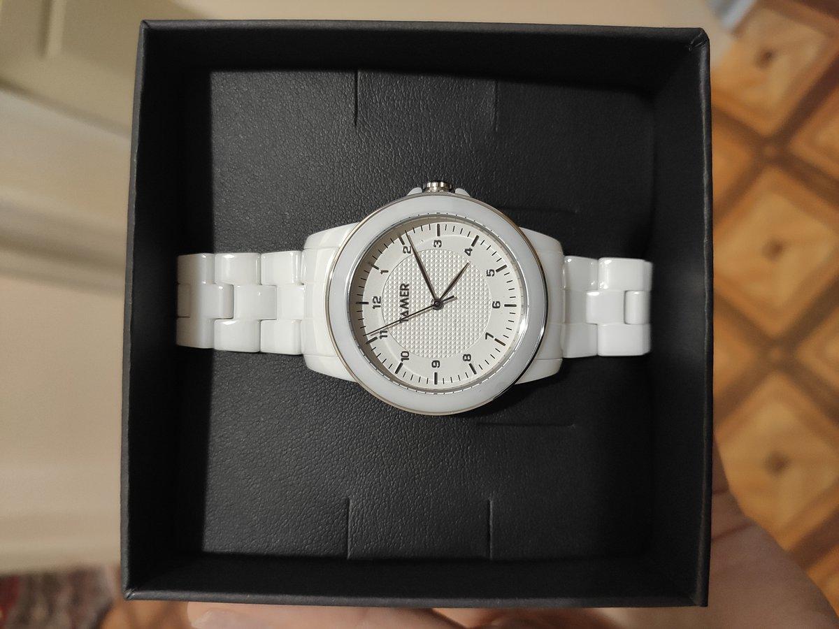 Керамические белые женские часы