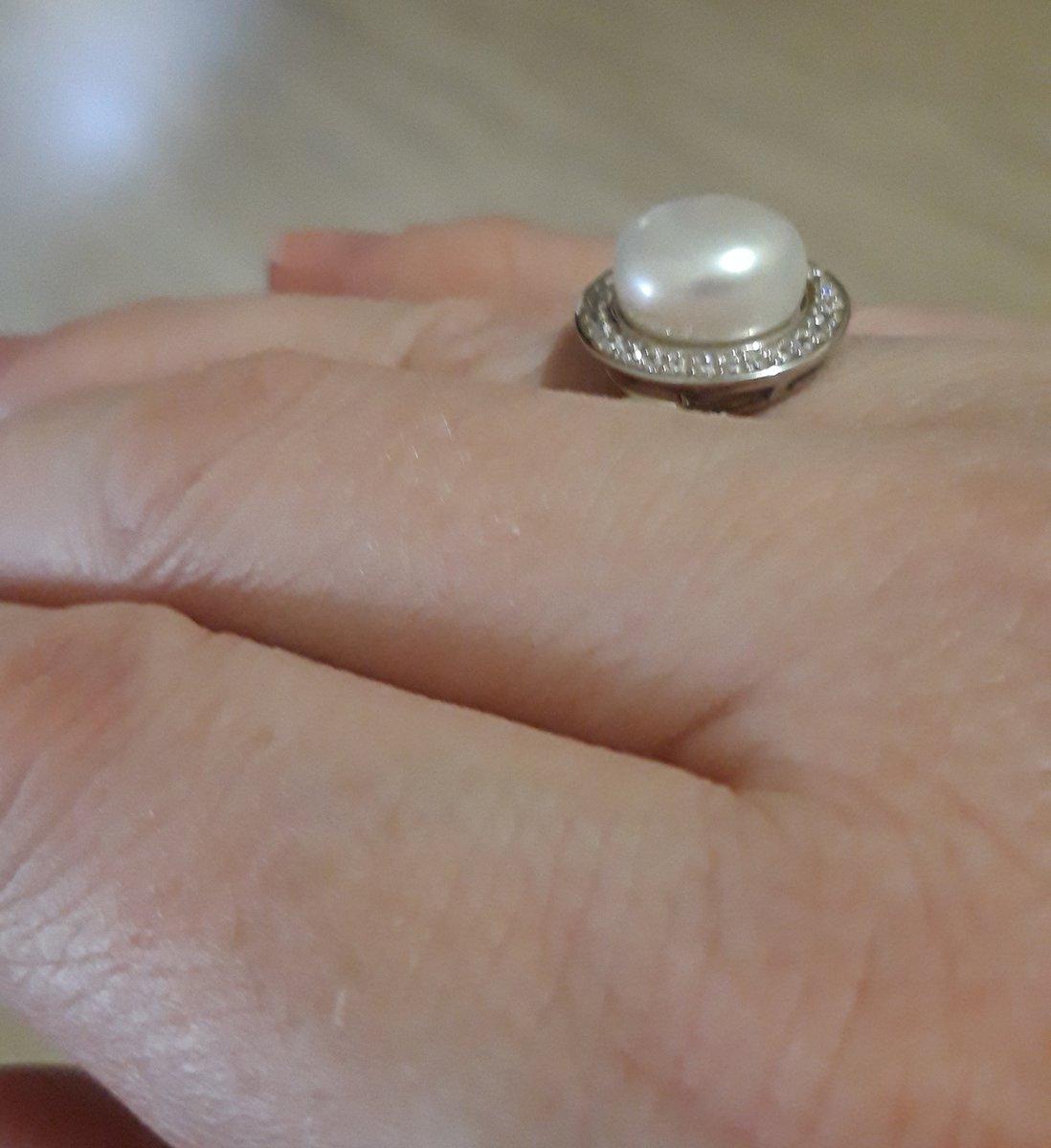 Кольцо с женчугом