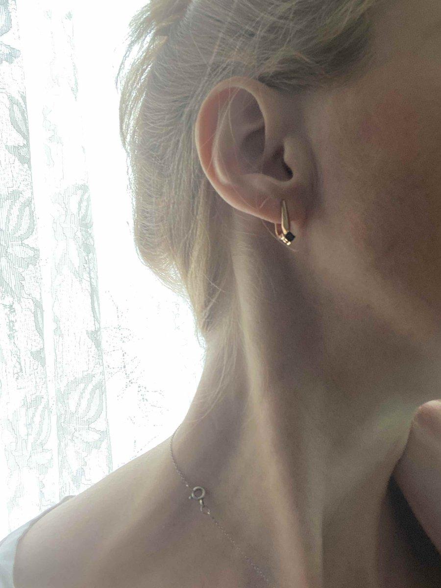 Серебрянные серьги с бриллиантами