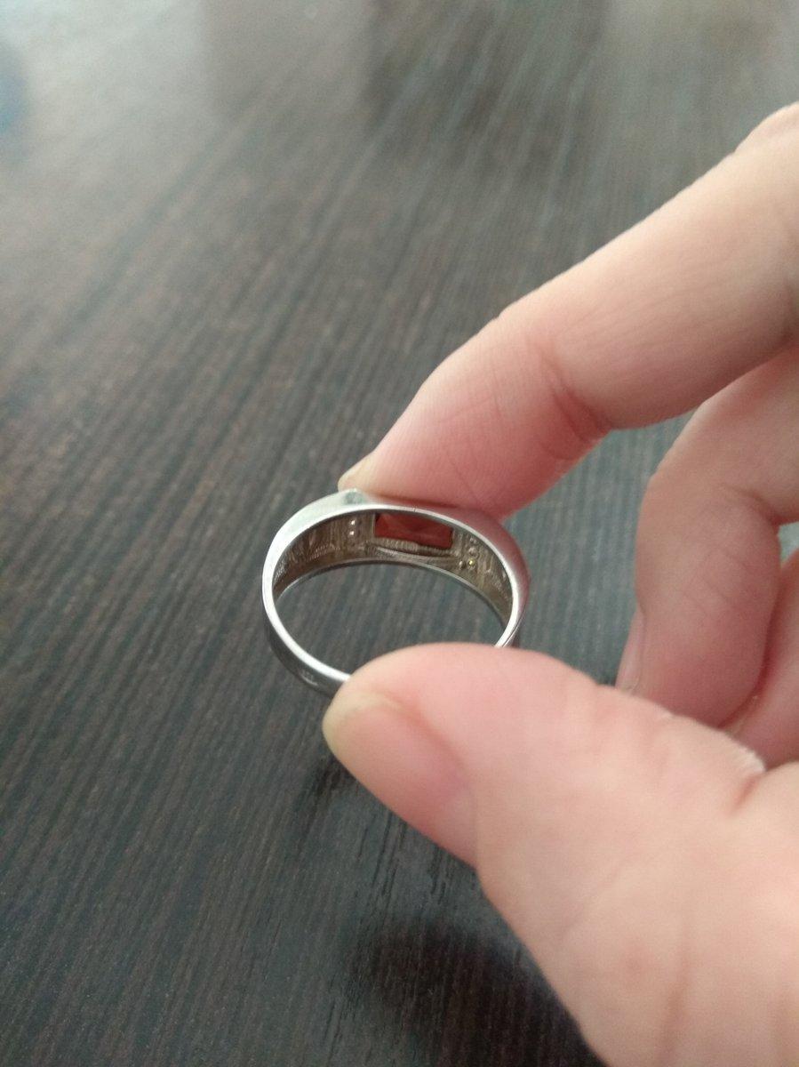 Кольцо серебро с фианитом