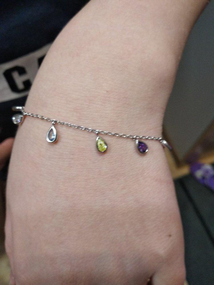 Ожерелье серебряное с фианитами