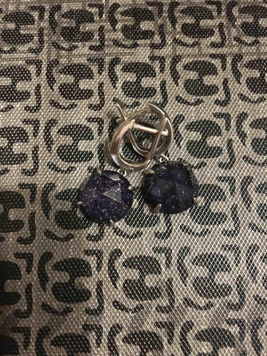 Серебрянные серьги с алпанитом