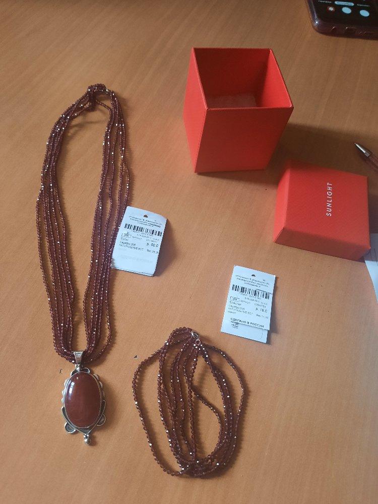 Ношу браслет и ожерелье, повесила кулон сама и довольна...