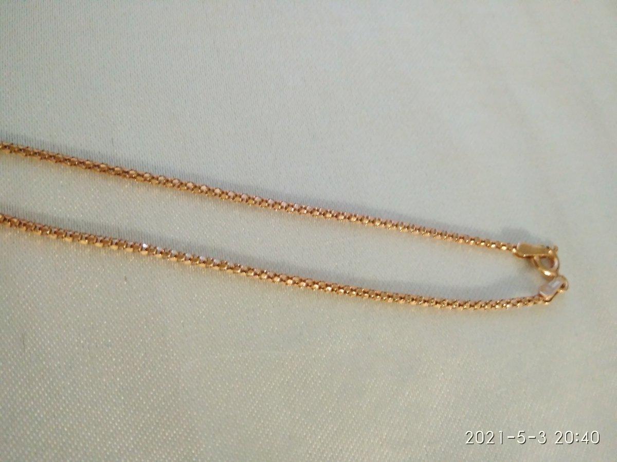 Серебряная позолоченная цепочка