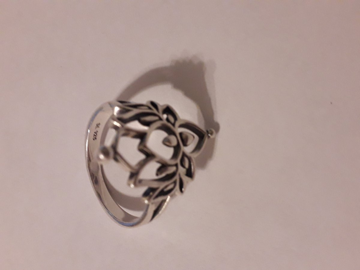 Серебряное кольцо в виде лотоса