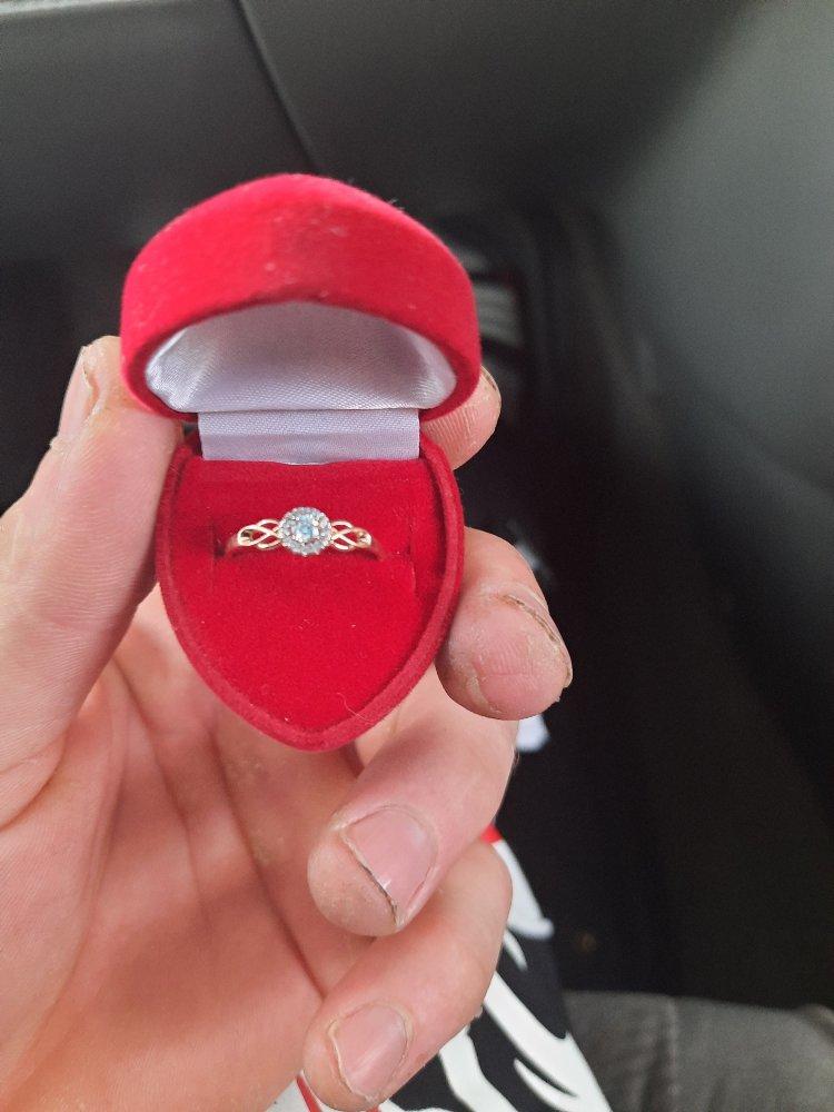Золотой кольцо с фианитами