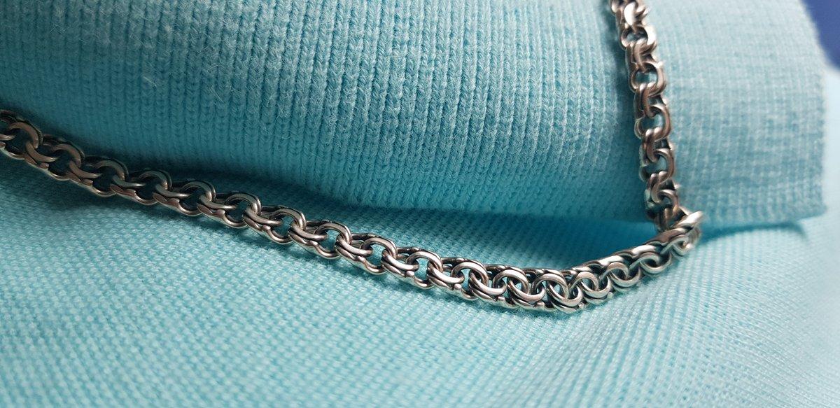 Отличная цепь, классическое плетение бисмарк