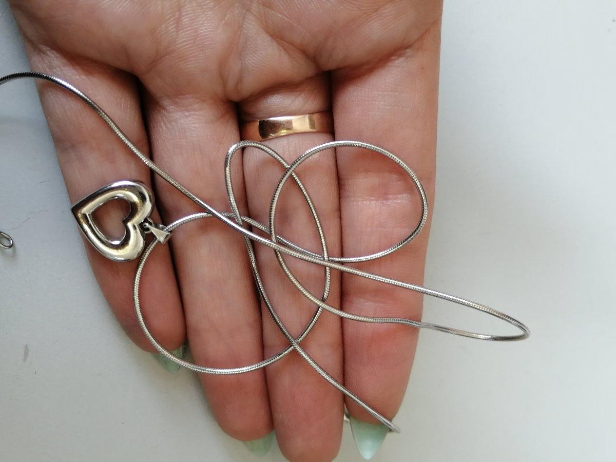 Серебряная цепочка шнурок