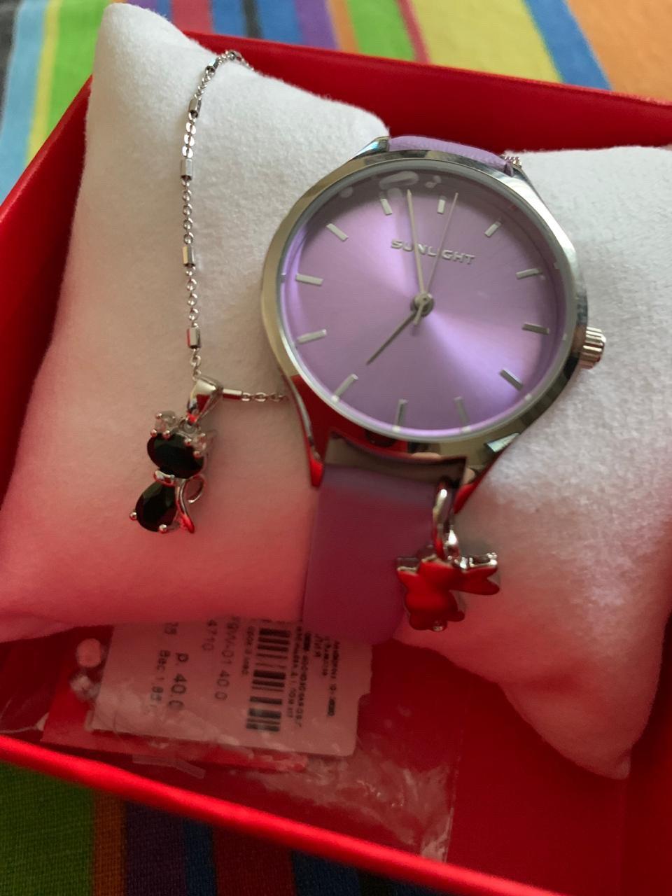 Фиолетовые часики в подарок
