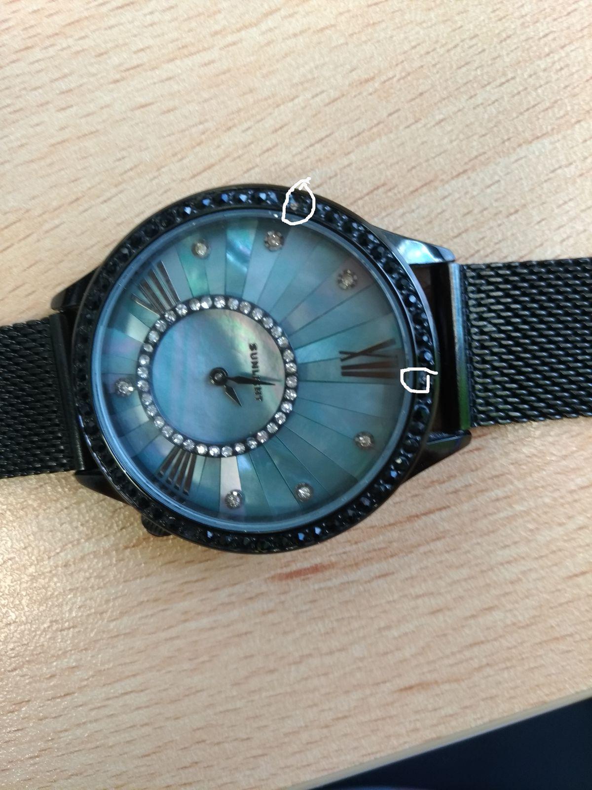 Женские часы с перламутром