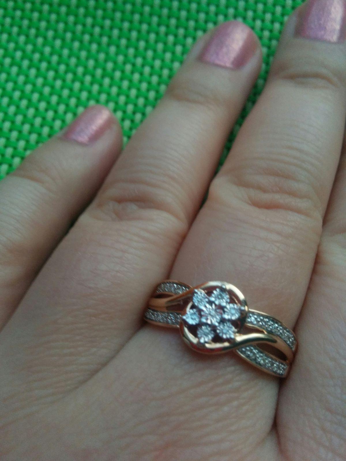 Очень красивое кольцо! Купила себе на 29 лет- 29 бриллиантов.