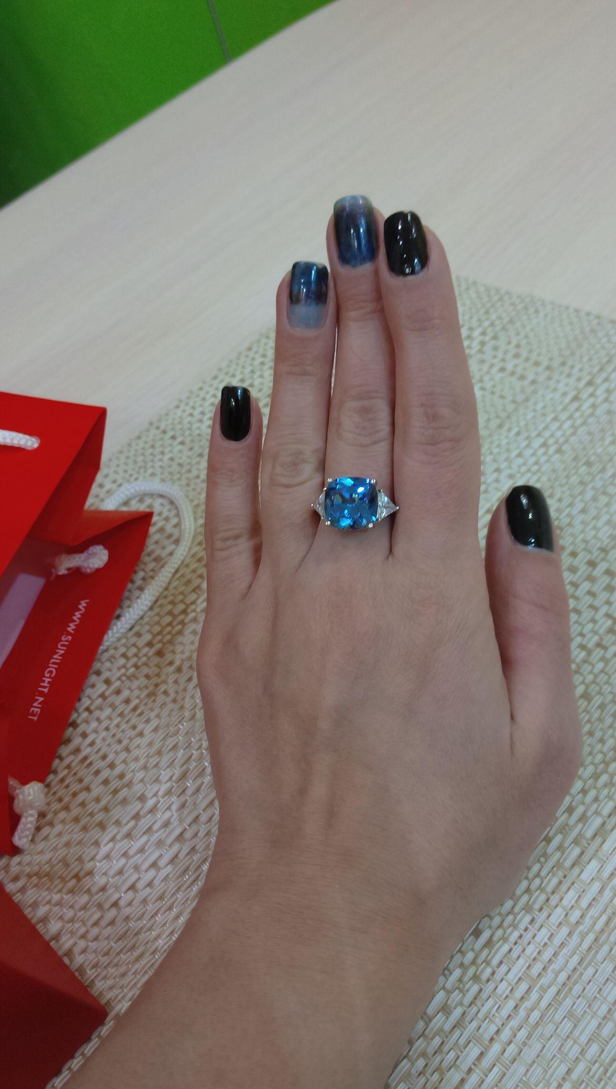 Кольцо с топазом)