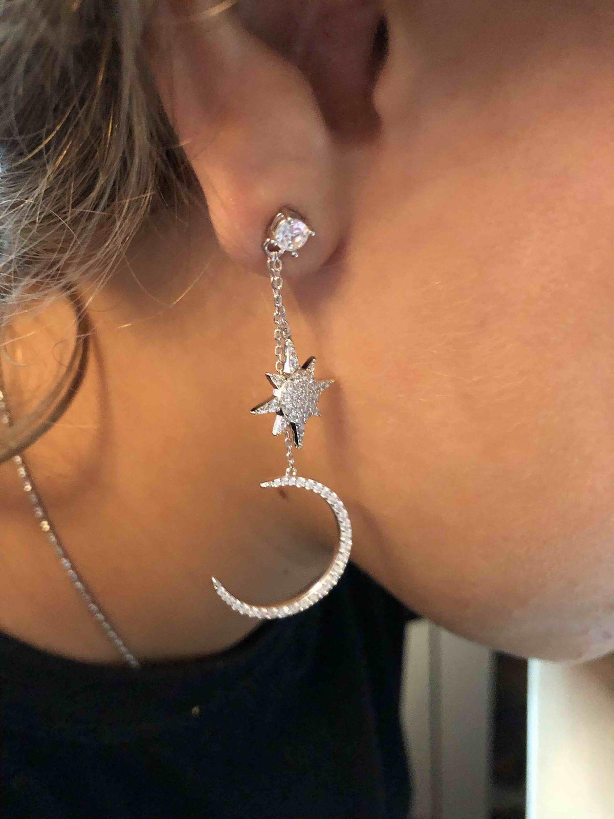 Серебрянные сережки с фианитами