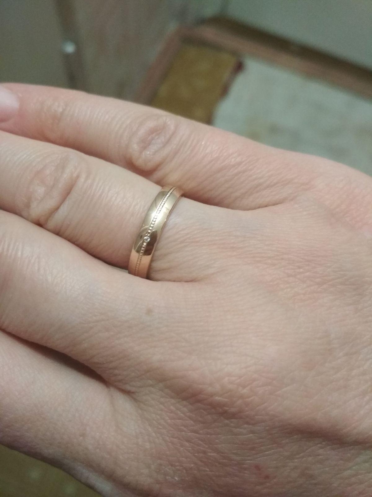 """Обручальное кольцо с """"косичкой"""""""