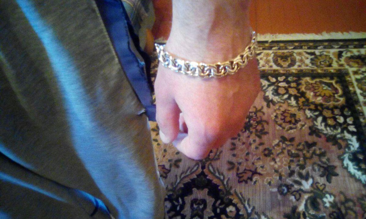 Браслет серебряный