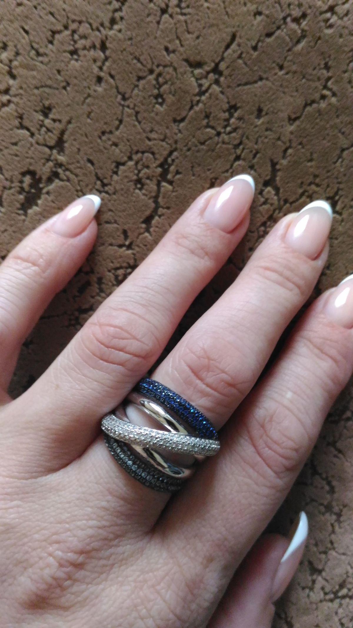 Современное серебряное кольцо