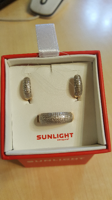 Серьги дорожки с бриллиантами