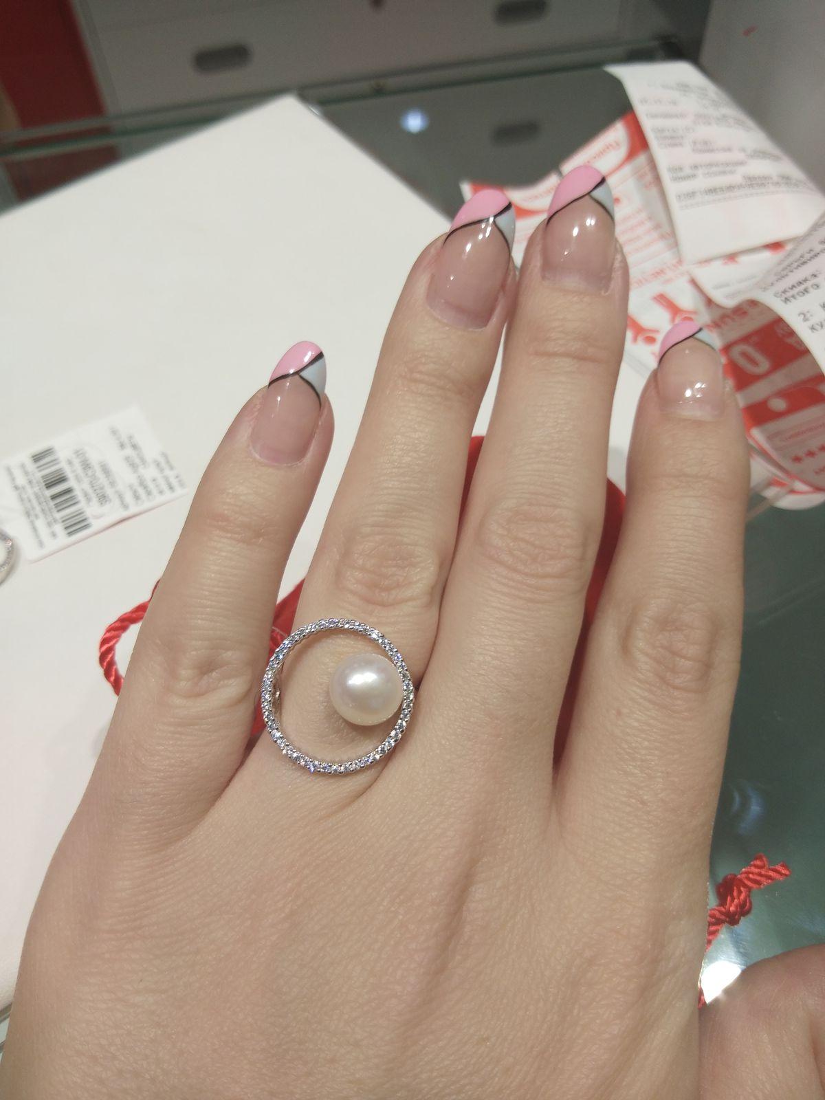 Комплект сережки с кольцом