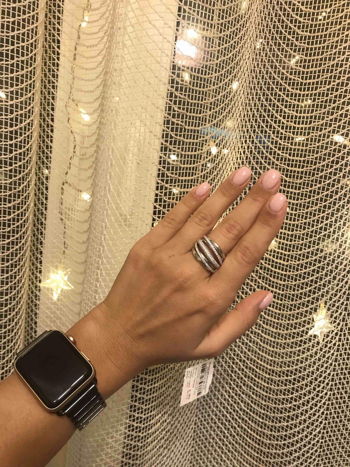Стильное крупное кольцо