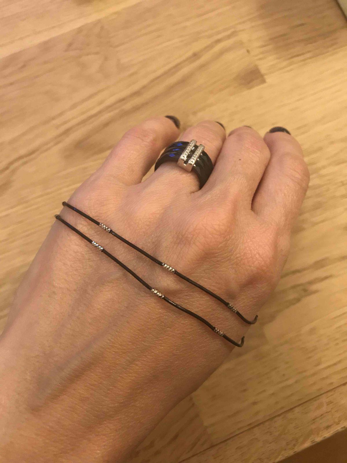 Черная цепь из серебра