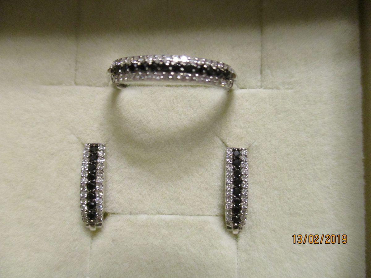 Черно-белый бриллиантовый комплект