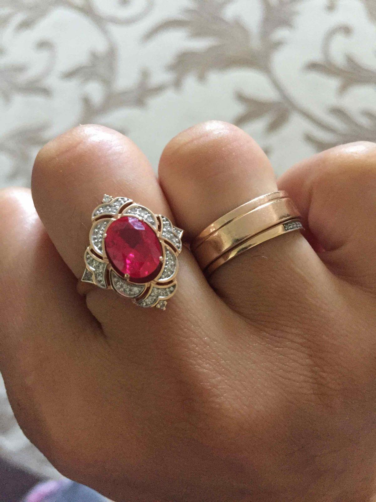 Шикарнейшее кольцо с рубином