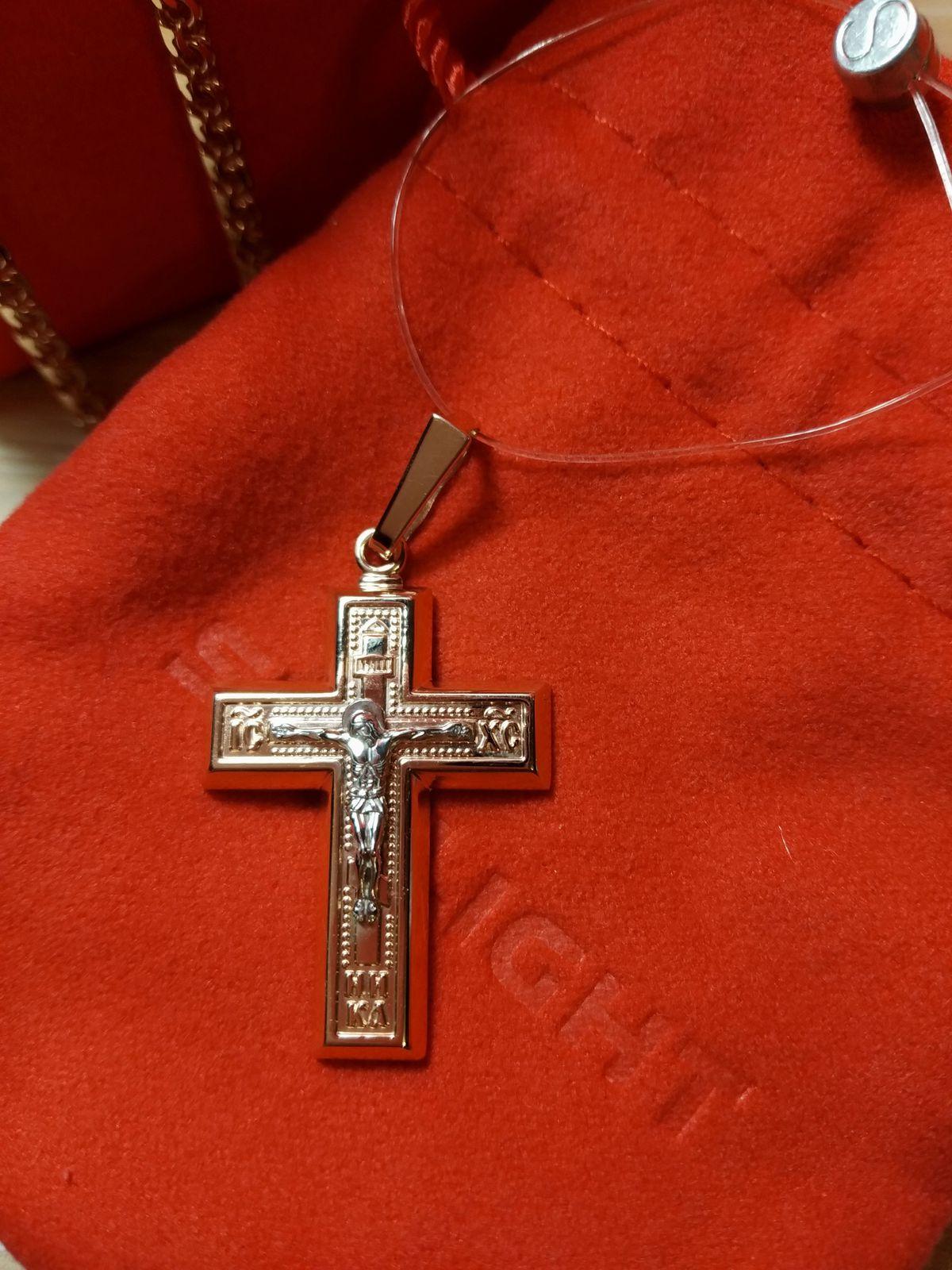 Красивый крест для крупной цепочки