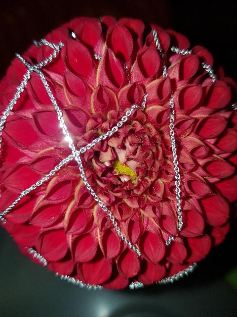 Цепочка из белого золота 60 см.