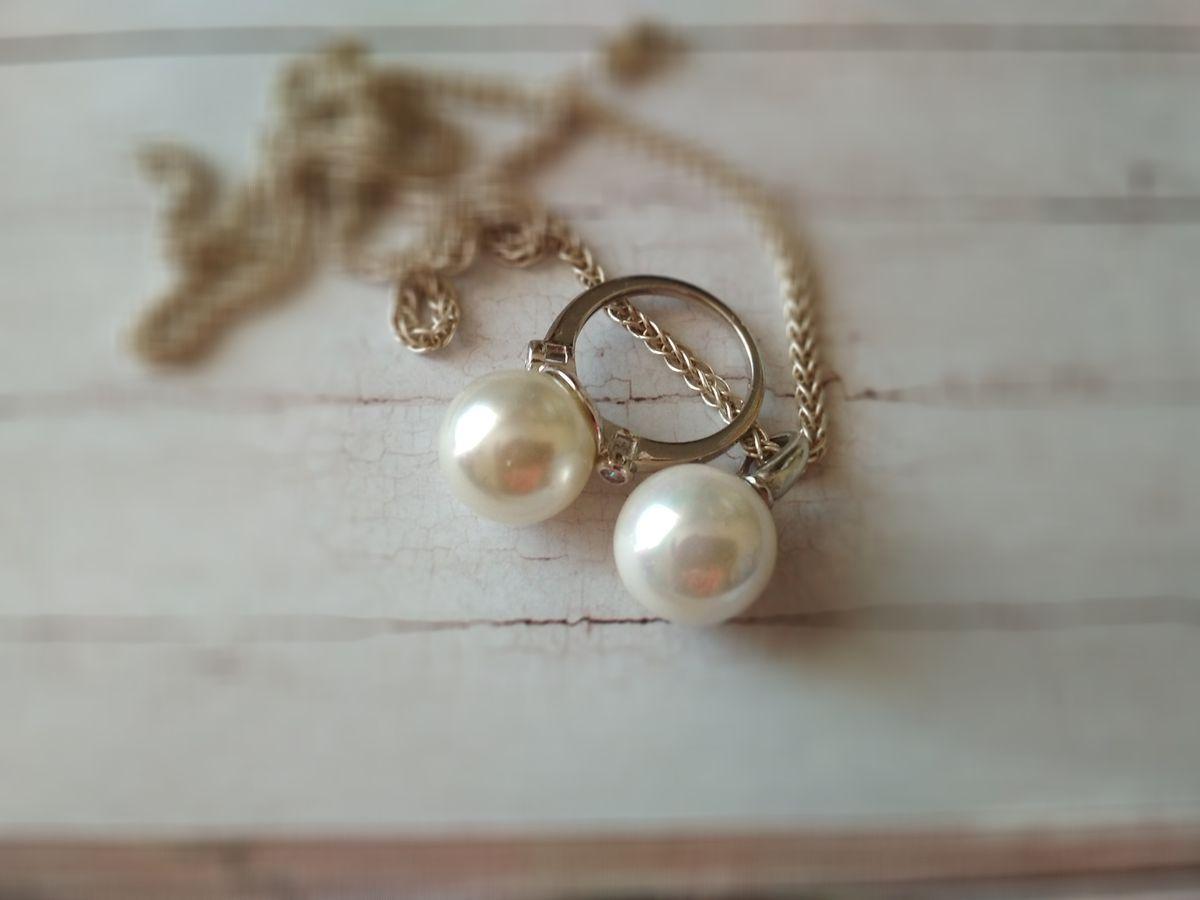 Серебряное кольцо с перламутровым шаром