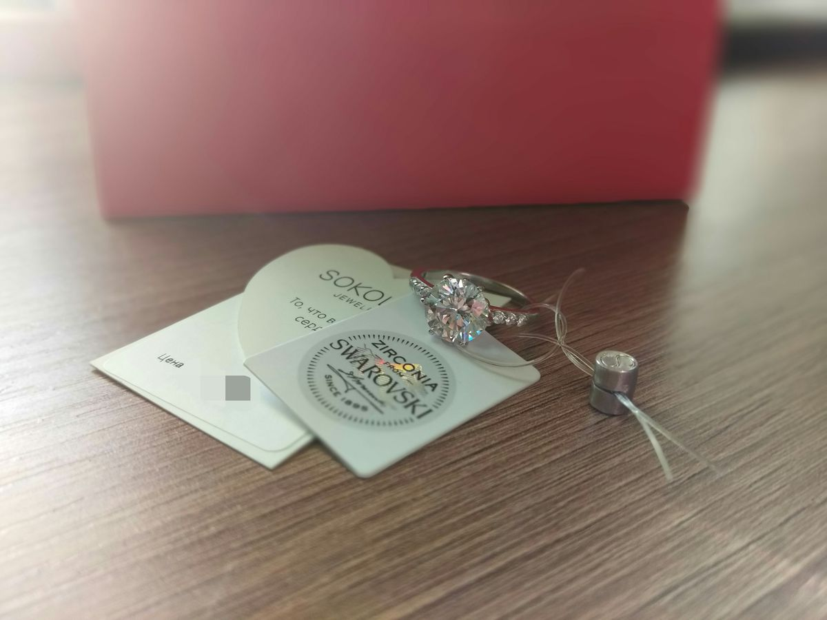 Серебрянное кольцо от Sokolov