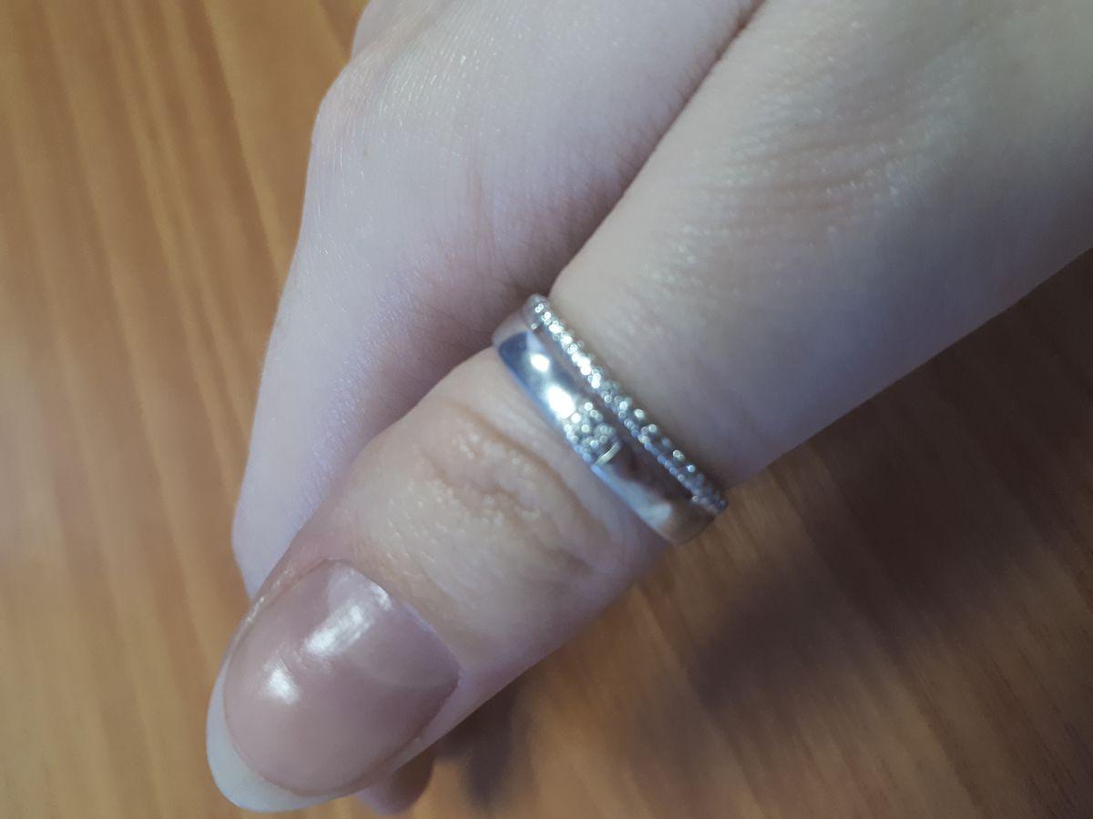 Колечко с имитацией двойного кольца