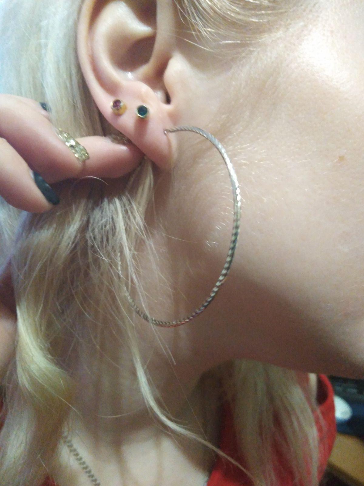 Серьги-кольца с блестящей шлифовкой