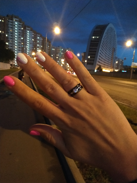 Керамическое черное кольцо