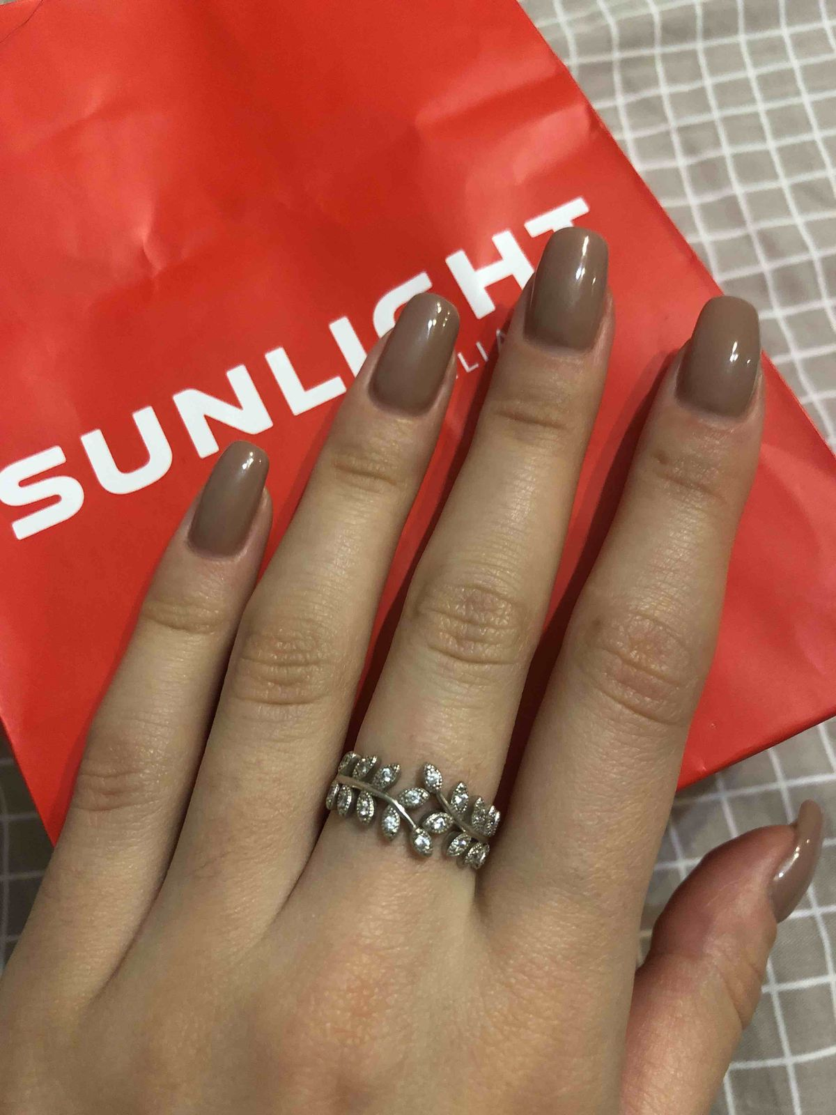 Серебряное кольцо с веточками