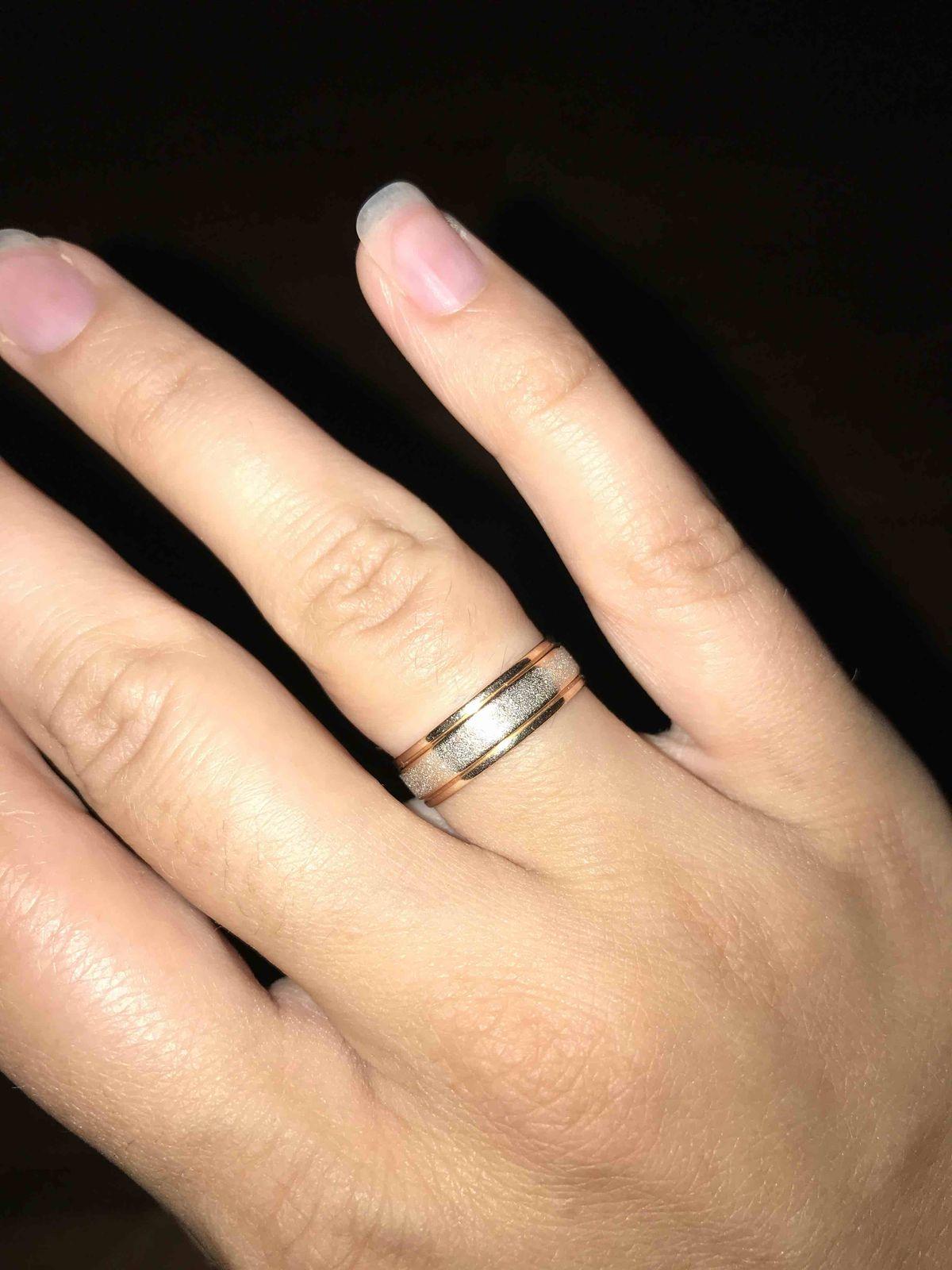 Обручальное кольцо золотое