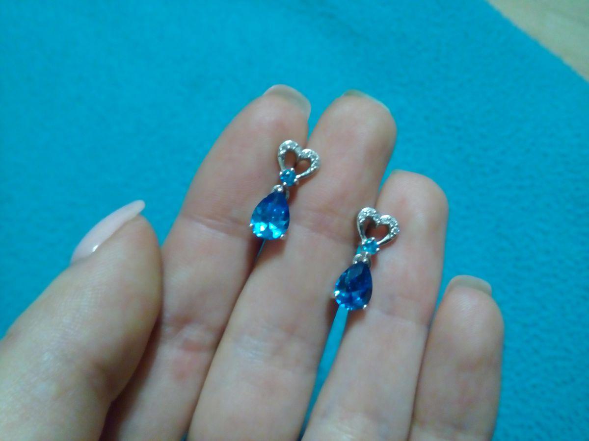 Сердечки с голубой каплей