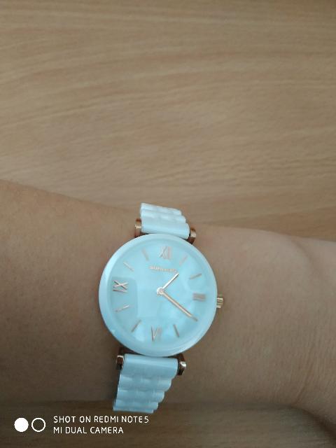 Часы керамические, белые