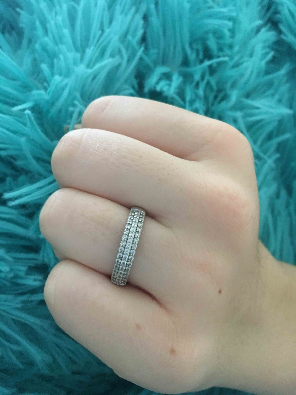 Кольцо Sokolov из серебра с фианитами.
